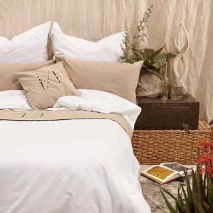 Quill Embroidered Duvet cover Lifestyle